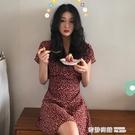 短袖裙子仙女超仙森系2021年新款氣質少女桔梗法式連身裙女 奇妙商鋪