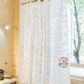 浴簾 訂製加厚浴簾套裝防水浴室簾子衛生間直桿形窗簾掛簾布浴簾180*200cm帶桿·樂享生活館
