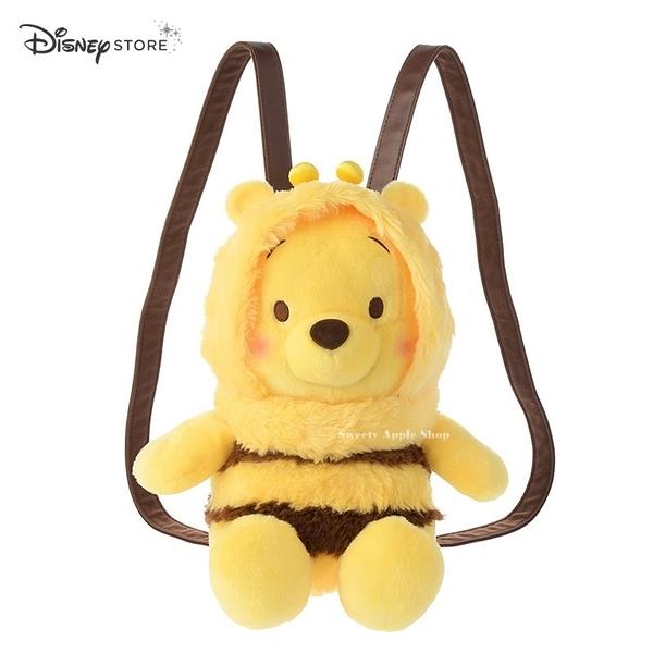 日本限定 Disney Store 小熊維尼  蜜蜂版 BEE Color of Pooh 玩偶 後背包