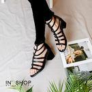 IN'SHOP涼鞋-歐風狂野時尚羅馬粗跟復刻涼鞋【KF00881】