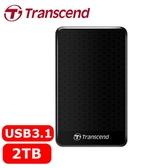 Transcend創見 StoreJet 25A3 2TB 2.5吋 行動硬碟 黑