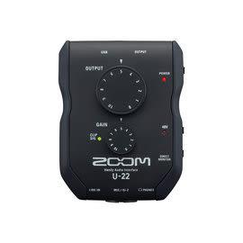Zoom U-22 手持 錄音介面 PC MAC IPAD可用 台灣總代理 公司貨 保固540天