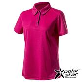 PolarStar 女 Coolmax抗菌POLO衫『桃紅』P20120 排汗衣 排汗衫 吸濕快乾 吸濕.排汗.透氣.快乾.輕量