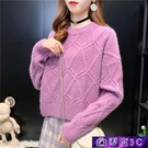 針織上衣 慵懶風毛衣女秋冬外穿2020新款韓版寬鬆短款針織上衣洋氣打底衫厚 零度3C