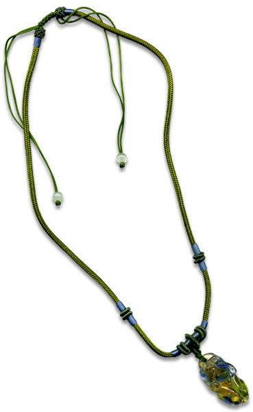鹿港窯~開運古法水晶琉璃雕項鍊~貔貅◆附精美包裝◆免運費送到家