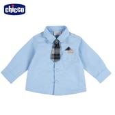chicco 小熊家族附領帶長袖襯衫