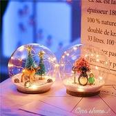 北歐ins網紅少女心LED彩燈房間佈置chic水晶球韓小清新裝飾電池燈 【免運快出】