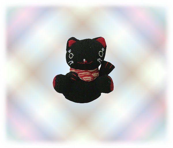 【波克貓哈日網】★開運招財貓★  開運招財小吊飾 《黑色》選個隨身吊飾改變你的運勢!