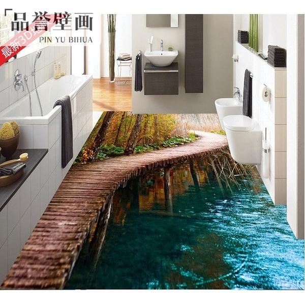3D瓷磚浴室廚房客廳藝術地板 鯉魚蓮花山水風景地磚 主題酒店地磚LG-585945