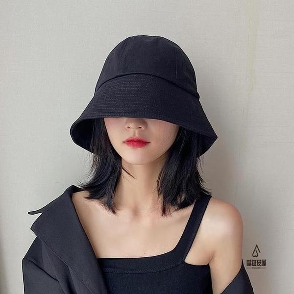漁夫帽女夏防曬帽韓版水桶帽子潮遮臉遮陽陽帽【愛物及屋】