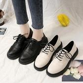 黑色小皮鞋女2020年秋冬季新款加絨英倫學院風平底軟皮日系jk單鞋 【端午節特惠】