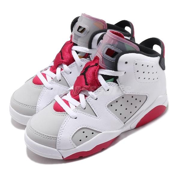Nike Air Jordan 6 Retro PS Hare 白 灰 童鞋 中童鞋 兔寶寶 喬丹 6代 【ACS】 384666-062