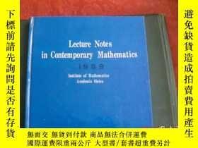 二手書博民逛書店lecture罕見notes in contemporary m