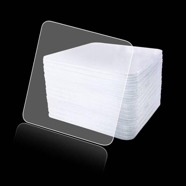 現貨-雙面透明膠輔助貼 強力無痕瓷磚掛鉤粘 浴室牆防水魔力貼【A177】『蕾漫家』