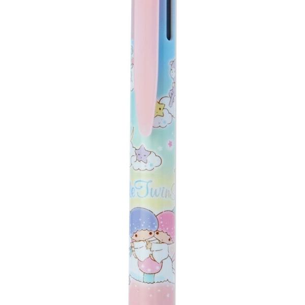 《Sanrio》日本製SUPER GRIP.G 3色夾式原子筆 0.7mm 雙子星 KIKILALA*PILOT 獨角獸 漸層_740497