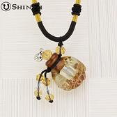 手工項鍊 琉璃項鍊 精油項鍊 中國繩項鍊 小花圓款