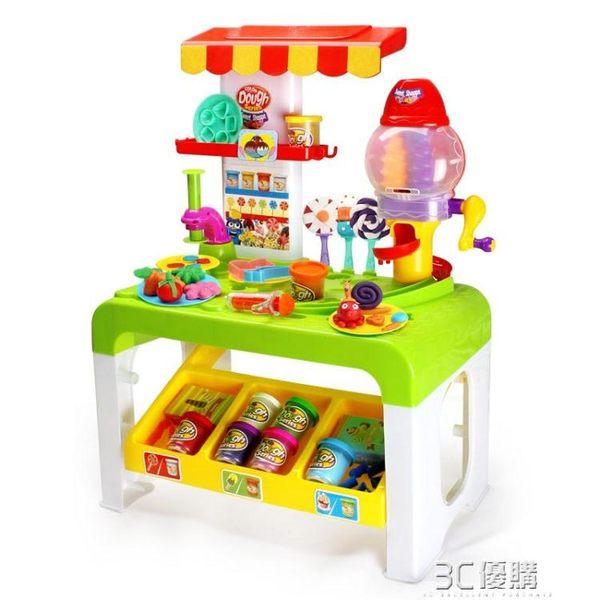 立體彩泥糖果超市手工創意橡皮泥黏土模具工具套裝兒童過家家玩具 3C優購igo