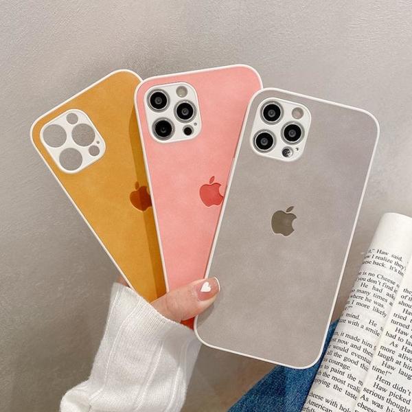 iPhone手機殼 皮質iPhone11手機殼蘋果12pro膚感8/7plus【快速出貨】
