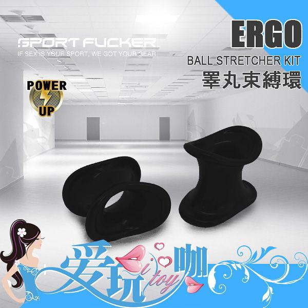 【黑】美國 SPORT FUCKER 運動種馬睪丸束縛環 Ergonomic Ball Stretcher Kit 美國原裝進口 屌環