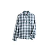 Gap男裝翻領格紋長袖襯衫528030-原野綠