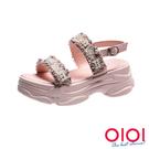 涼鞋 甜酷女孩顯瘦老爹涼鞋(粉)*0101shoes【18-K523pk】【現+預】