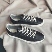 韓版純色休閒小白鞋百搭透氣青少年板鞋春季低筒鞋子    琉璃美衣