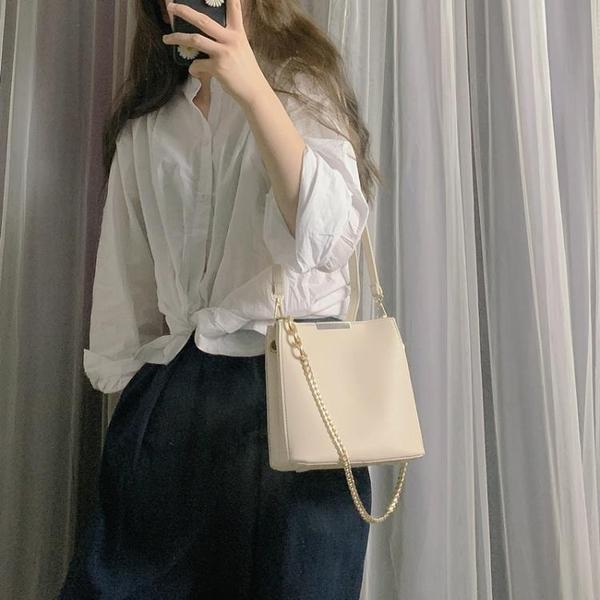包包女2021新款潮夏天簡約單肩手提包時尚斜挎包鏈條包百搭小方包 【夏日新品】