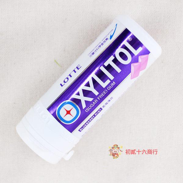 越南零食LOTTEXYLITOL木醣醇無糖口香糖(藍莓薄荷)26.1g【0216零食團購】8934677000921
