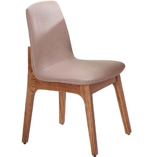 餐椅 SB-928-6 葛麗絲胡桃咖啡皮餐椅 【大眾家居舘】