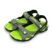 LIKA夢 LOTTO 專業戶外運動涼鞋 自然探索系列 灰黑綠 3128 男