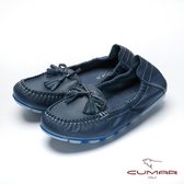 【CUMAR】悠遊輕井澤 - 簡約慢活莫卡辛平底休閒鞋(深藍色)