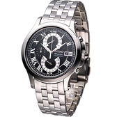 SEIKO Premier系列 雙逆跳計時腕錶 7T85-0AC0D 黑SPC067J1