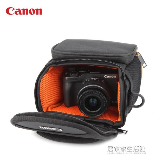 canon佳能EOS-M5 M50 M100 M10M6單電微單防水單肩攝影收納相機包 居家家生活館