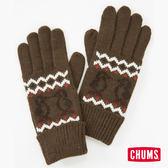 CHUMS 日本 風格編織保暖手套 深棕 CH091020B001