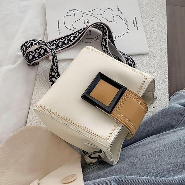 包包女包新款潮流時尚氣質寬帶斜挎包韓版休閑氣質單肩水桶包