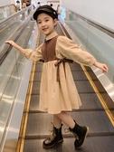 女童秋裝連身裙2020新款兒童網紅裙子秋款小女孩長袖春秋公主洋氣 童趣屋