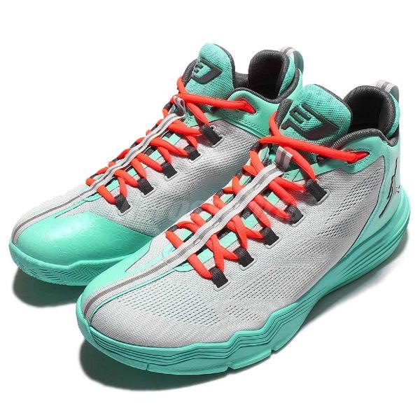 Nike 籃球鞋 Jordan CP3.IX AE X XDR 9代 室外耐磨氣墊 灰 綠 男鞋【PUMP306】 845340-016