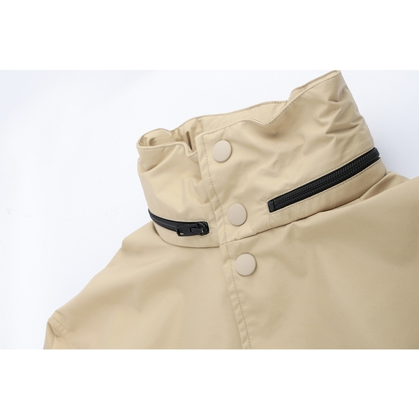 【BALENCIAGA】經典LOGO防風外套(附可收納式帽子)(駝色) 556168 TC011 9501