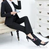 西褲女款直筒褲黑色上班工褲女正裝褲長褲高腰顯瘦職業褲女TA3583【極致男人】