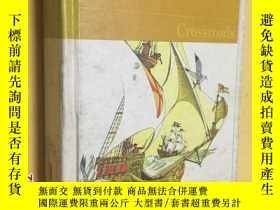 二手書博民逛書店CROSSROADS罕見英文原版 布面精裝16開彩色插繪本 插圖