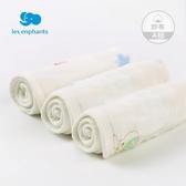 麗嬰房嬰兒口水巾新生兒四季紗布方巾3條裝寶寶純棉手帕2019新款