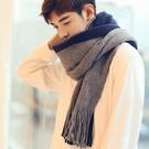 圍巾 圍巾男冬季新款百搭韓版簡約男士圍巾針織毛線圍脖學生長款年輕人 全館免運