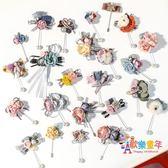 韓國可愛胸針女胸花高檔復古珍珠花朵毛衣別針開衫大衣外套配飾新