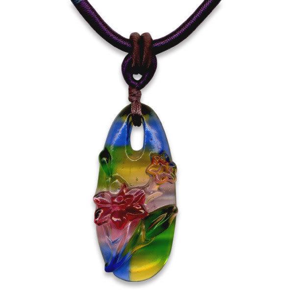 鹿港窯~居家開運水晶琉璃項鍊~水仙 附精美包裝 ◆免運費送到家◆
