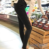 緊身牛仔褲 黑色高腰冬季加絨牛仔褲女秋2020新款九分緊身小腳鉛筆褲子