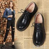 小皮鞋女新款秋季英倫風小皮鞋女平底百搭學院黑色大碼女鞋 唯伊時尚