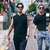 背心 正韓 韓國夏日素面口袋 平肩背心【PA20946】現貨+預購 Doppler