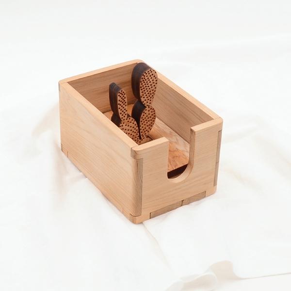 芬多森林|台灣檜木 多元收納盒-黃毛掌,可放置統一發票,迴紋針,客製化生日禮物,交換禮物