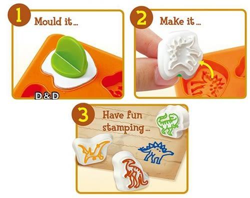 《4M美勞創作》恐龍印章創作 Dino Stamp Factory ╭★ JOYBUS玩具百貨