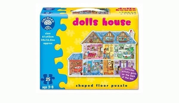 【英國 Orchard Toys】幼兒大拼圖 娃娃屋 doll house